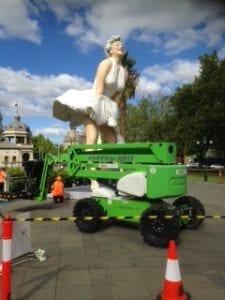 Niftylift Marilyn Sculpture